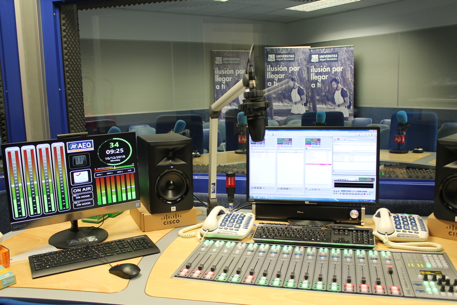 Elche's Miguel Hernández University Radio extends its studios using AEQ digital technology