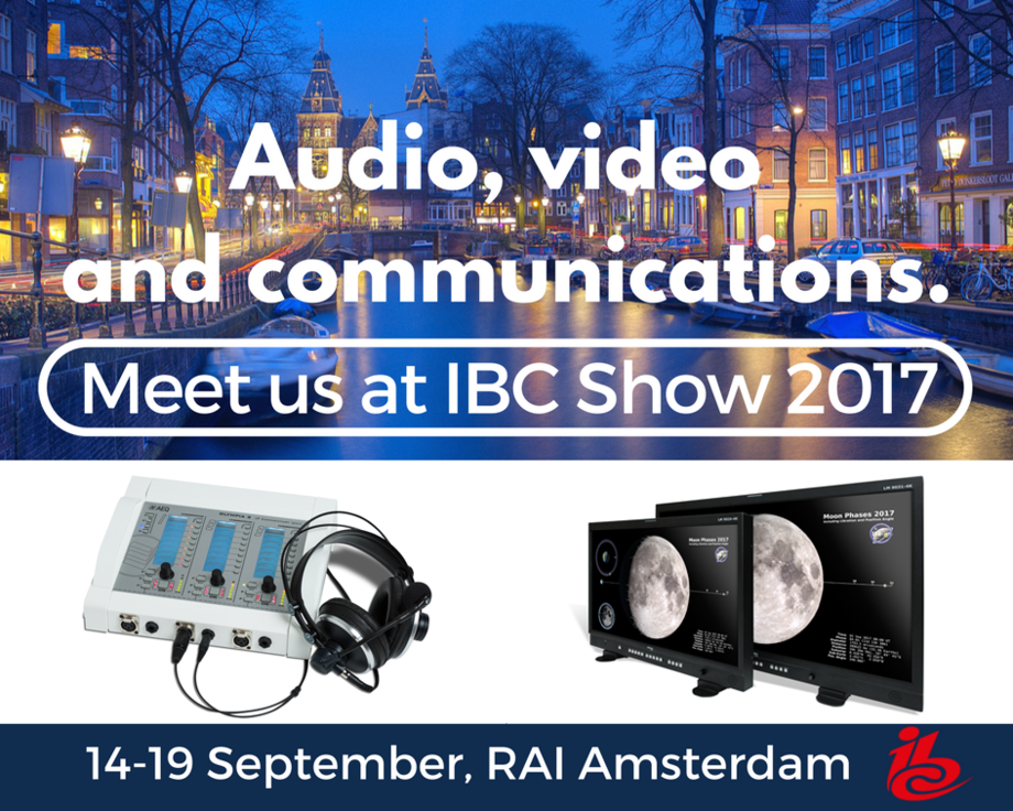 AEQ PRESENTS ITS NEW PRODUCTS AT THE IBC SHOW 2017